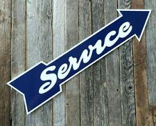 Garage Service Sign - Old Fashioned Arrow - Aluminum - New Retro Style Gas Decor