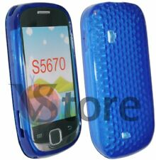 Cover Custodia Gel TPU Blu Per SAMSUNG S5360 GALAXY Y + Pellicola Salva Display