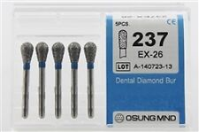 Dental Diamond Burs, Standard Grit Multi-Use, 5 Pcs/Pk [237EX-26]