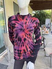 NWT Women's Glima Tie Dye Ribbed Mock Sweater Top Long Sleeve Stretch 100 Cotton