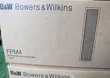 Neue b&w FPM4 Wand Lautsprecher Bowers & Wilkins, Paar/2 Lautsprecher-Schwarz