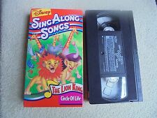 Disney's Sing Along Songs The Lion King Circle of Life VHS Kids 1990s