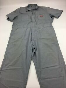 Dickies Workwear Mens Chest 52 Gray Short Sleeve Coveralls Work Jumpsuit