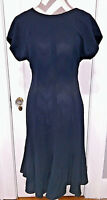 Dress LIZ CLAIBORNE DRESSES PETITES Womens Size 8 Black Fitted Flared Bottom NWT