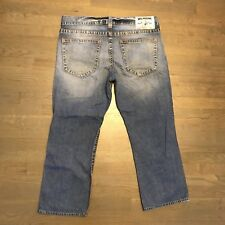 TRUE RELIGION Straight Leg Denim Jeans Light Blue Men's Size 38 Inseam 27 112790