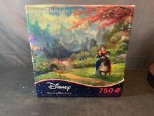 NEW! Disney Thomas Kinkade 750 piece puzzle, Mulan Blossoms of Love
