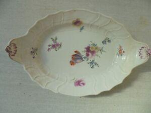 Beau plat en porcelaine de Meissen XVIIIème