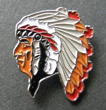 NATIVE AMERICAN INDIAN CHIEF UNITED STATES PIN BADGE 1 inch
