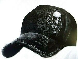 Basecap Baseball Death Ribs Skull Gothic King Schädel Tod Spiral Mütze TOP