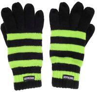 Grenade Stripes Gloves Lime One Size Mens