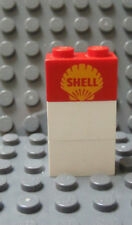 LEGO 1x2 Red Brick with SHELL Logo 646 621 325 355