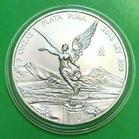 2016 2 oz Silver Libertad 2 Onzas Plata Pura Bullion Coin in Capsule Mexico Coin