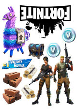 Fortnite characters set of decoration ICING WAFER edible cake topper A4