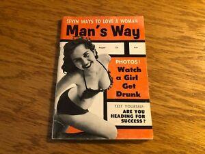 AUGUST 1956 MANS WAY digest pinup magazine (MISC5271)
