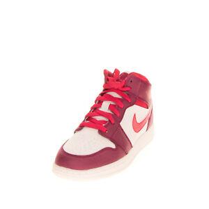 NIKE AIR JORDAN 1 Kid's Leather Sneakers EU35.5 UK3 US3.5 Color Block Perforated