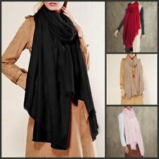 Unifarbene Damen-Schals in Größe XXL
