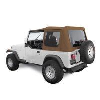 Jeep Soft Top for 88-95 Wrangler YJ w/Tinted Windows in Spice Denim