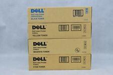 4x Genuine Dell Laser Printer Toner 3100cn Cyan Black Magenta Yellow New