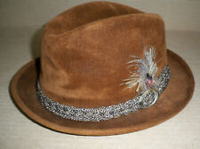 Old SOVEREIGN STETSON FUR FELT HAT FEDORA 7 1/4 Size
