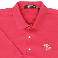 "Carnoustie Men XL 50"" Torrey Pines Golf Polo Shirt Red Subtle Stripe Cotton"