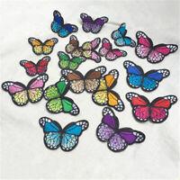 10x Aufnäher Bügelbild Applikation Flicken Schmetterling Bügelbilder Gesche Y7W0