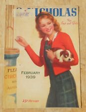 St Nicholas Magazine for boys and girls vintage 1939 February