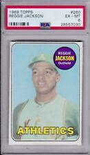 1969 Topps Baseball # 260 Reggie Jackson Rookie HOF PSA 6