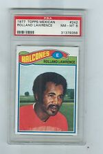 1977 Topps Mexican # 242  ROLLAND LAWRENCE  Falcons Talbor  PSA 8