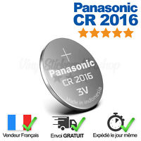 1 Pile Lithium CR2016 Panasonic 3V Télécommande, Calculatrice, Chronomètre, Led