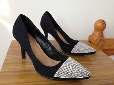 JENNIKA Women's Special Occasion Shoes Size 38 Eur   5 UK Black With Diamond N