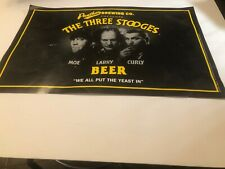 """11"""" x 17"""" Panther Brewing Three Stooges Beer poster We All Put the Yeast In"""""""