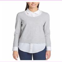 TOMMY HILFIGER  Womens Layered Long Sleeve Shirt