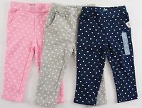 NWT Girls Baby GAP Heart Sweatpants Choose Size and Pink/Gray/Blue