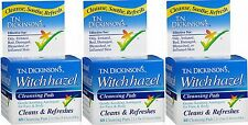 TN Dickinson's Witch Hazel Astringent Cleansing Pads 60 pads ( 3 pack )