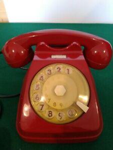 Telefono vintage a disco Siemens.