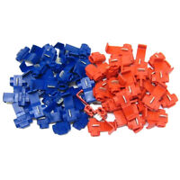 New 50Pcs Red Blue Snap On Connector Splicer Terminal Quick Splice Cable  OZ