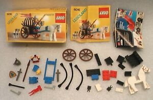 LEGOLAND CASTLE SYSTEM 6016 KNIGHT'S ARSENAL COMPLETE SET IN 1987 BOX + PAPERS