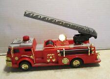 "New Bright Light Up 11"" Fire Department Ladder Truck Engine HH27"