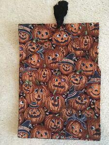 """VTG 70"""" Tapestry Halloween~Pumpkins~Jack-o-Lantern Table Runner"""