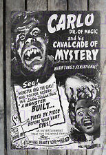 Carlo Dr. Of Magic & His Calvacade Of Mystery Spook Show Poster Reprint #15