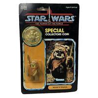 Star Wars Vintage 1984 POTF Wicket W. Warrick Ewok Action Figure Kenner W/Coin