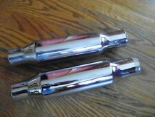 "Vintage 1960s NOS USA shorty mufflers 1 1/2"" ID inlet BSA HONDA YAMAHA TRIUMPH"