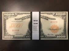 $20,000 In 1907 $1000 Bills Prop Play Money Gold Certificate Hamilton Act Size!