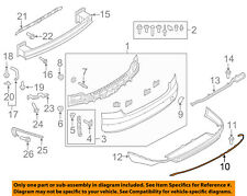 AUDI OEM 15-17 S8 Rear Bumper-Cover Molding 4H0807791A3Q7