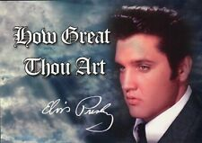 Elvis Presley, How Great Thou Art, The King Loves The Lord, Gospel - Postcard  !