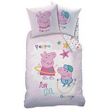 Cti 044727 Peppa Pig Recreation Parure pour enfant coton Blanc 200 x 140 cm