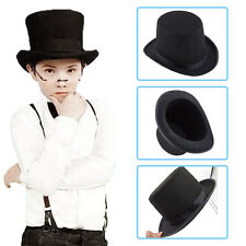Black Kids Hat Folding Collapsible Top Hat Magic Magician Performer Trick :