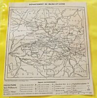 1898 Département de Maine et Loire 49 Angers Saumur Cholet