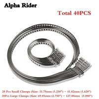 40pcs UNIVERSAL STAINLESS STEEL CLAMP CLIP SET FOR DRIVESHAFT CV JOINT BOOT KIT