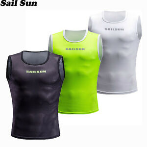 Cycling Jersey Keep Dry and Warm Mesh Vest Sleeveless Bike Bicycle Undershirt